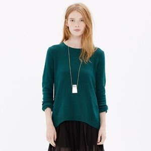 Madewell Emerald Green Sweater w Zip back detail